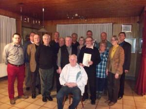 Geehrte Vereinsmitglieder bei der Jaheshauptversammlung